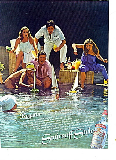 1979 SMIRNOFF Vodka AD Models at POOL (Image1)