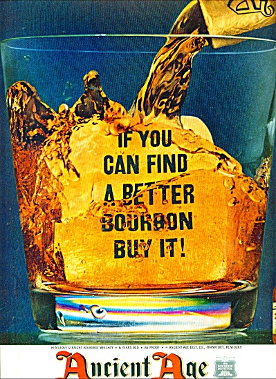Ancient Age Kentucky Bourbon Ad 1960