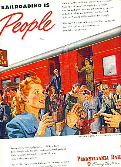 1945 Pennsylvania Railroad ad ARTWORK (Image1)