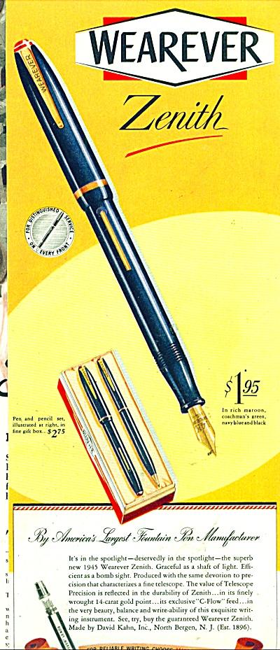 Wearever Zenith pens ad 1945 (Image1)