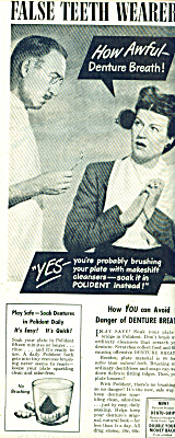 Polident For False Teeth Wearers Ad 1945