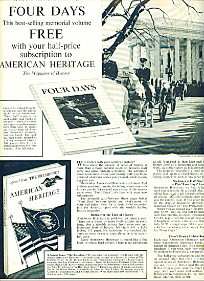 American Heritage Book Club Ad 1964