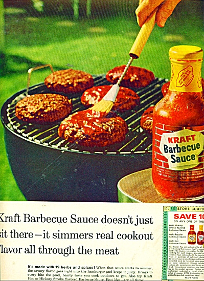 Kraft Barbecue sauce ad 1964 (Image1)
