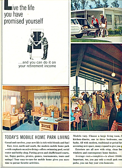 Mobile Home Park Living ads 1964 (Image1)
