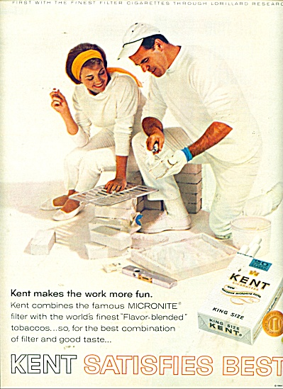 1964 KENT Cigarettes AD Couple Painting (Image1)