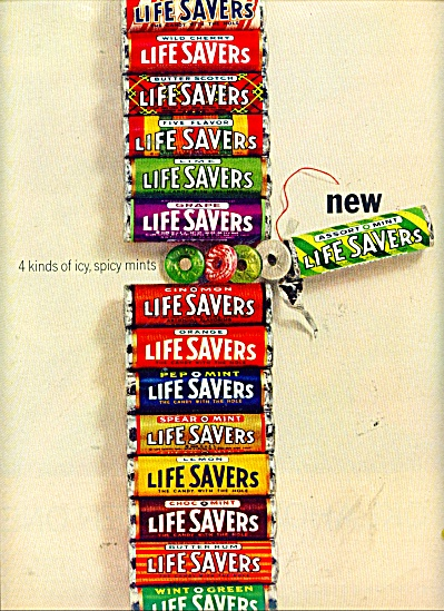 Life Savers - new Assort o mint ad 1964 (Image1)