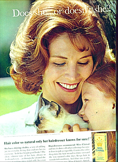 1964 Miss Clairol AD DOES SHE..OR DOESN'T SHE (Image1)