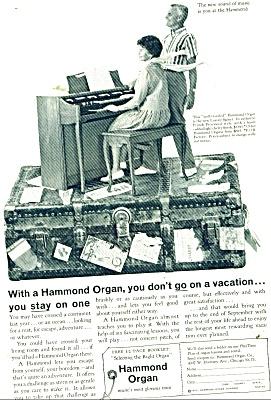 Hammond Organ ad 1962 NO VACATION (Image1)