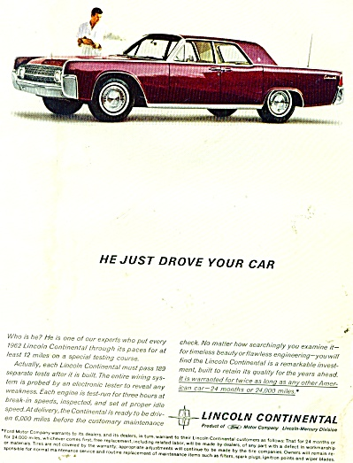 Lincoln Continental automobile ad 1961 (Image1)