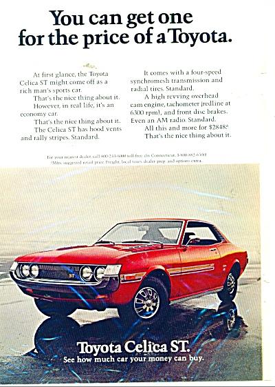 Toyota Celica ST automobile ad (Image1)
