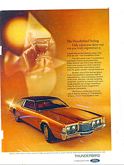 Ford Thunderbird automobile ad (Image1)