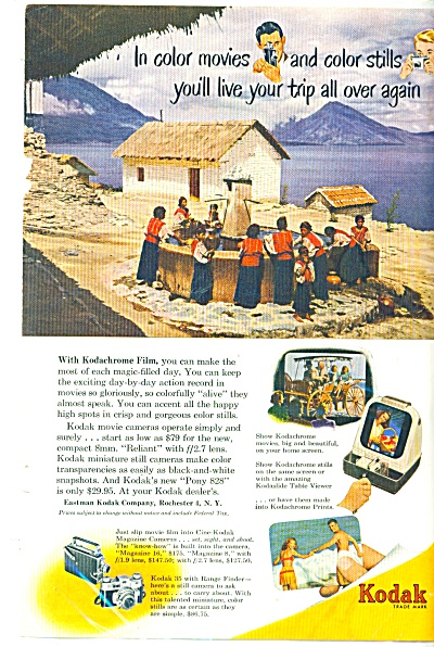 Kodak cameras and film ad 1950 (Image1)