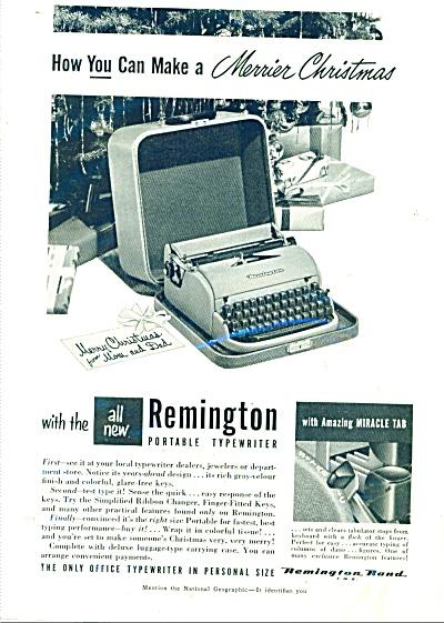 Remington portable typewriter ad 1950 (Image1)