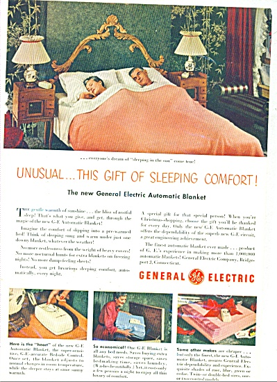 1950 General Electric Blanket AD Couple Sleep (Image1)