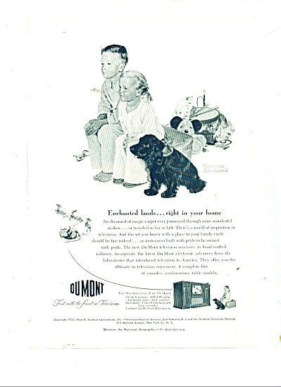 Dumont Television Ad 1950 Norman Rockwell
