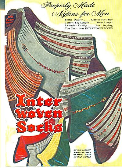 Inter woven socks ad 1950 (Image1)