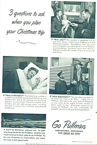 Go Pullman (train) ad 1950 (Image1)