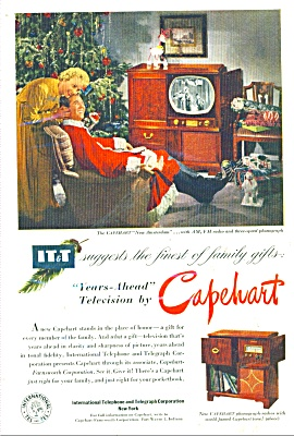 Capehart Television And Phonograph Radios