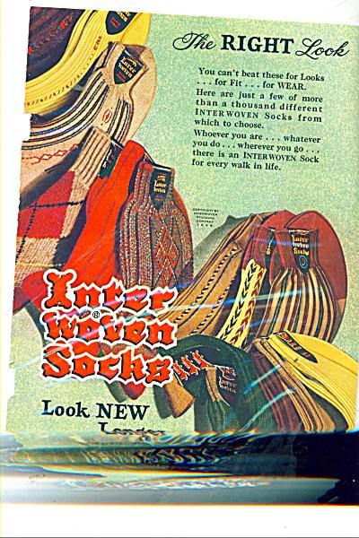 Inter woven socks ad 1948 (Image1)
