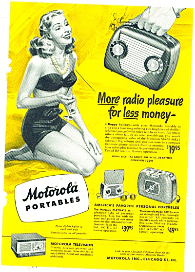 Motorola  Radio portables ad 1948 (Image1)