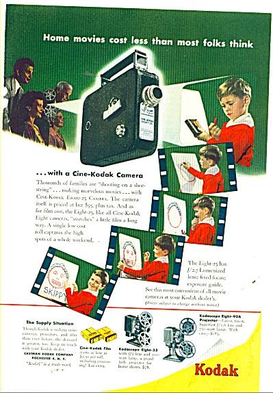 Cine-Kodak camer and projectors ad 1948 (Image1)