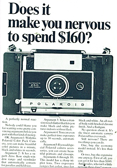 Polaroid cameras ad 1968 (Image1)