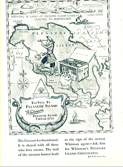 1929 Whitman's pleasure island chocolates AD (Image1)