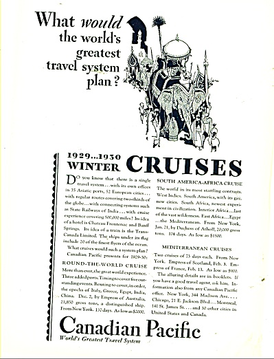 Canadian Pacific travel system ad 1929 (Image1)