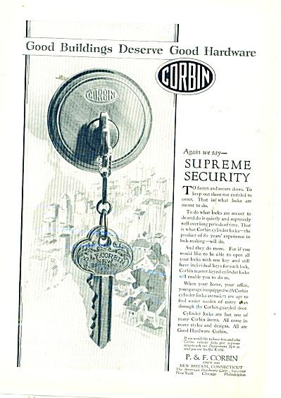 Corbin good hardware ad  1929 (Image1)