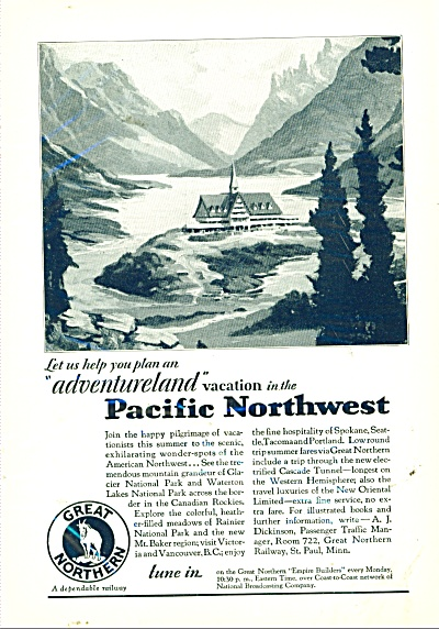 1929 Pacific Northwest - Geret Northern AD (Image1)