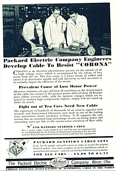 Packard Electric Company Ad 1929