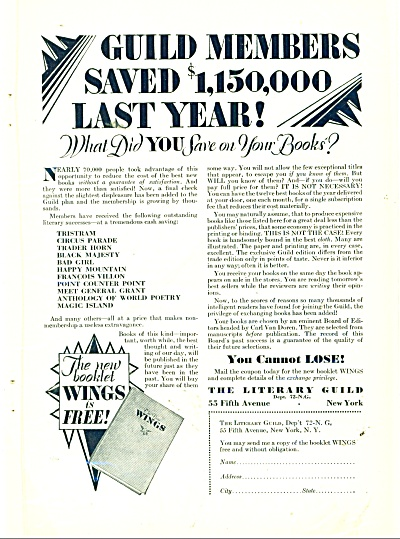The Literary Guild Ad 1929