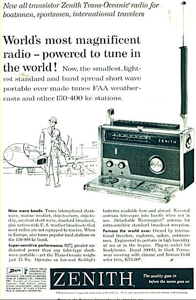 Zenith radio ad 1960 (Image1)