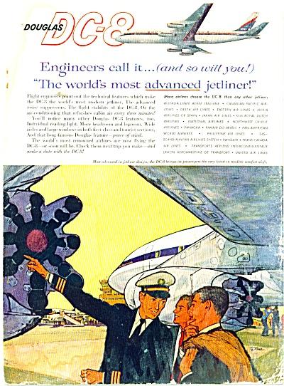 1960 Douglas DC-8 jetliner AD ART SIP (Image1)
