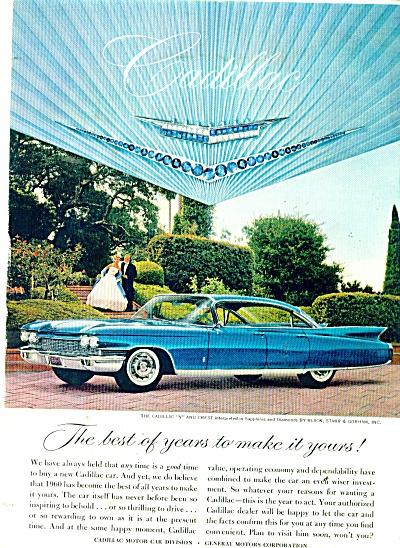 1960 Cadillac V - Crest CAR AD  COOLEST BLUE (Image1)