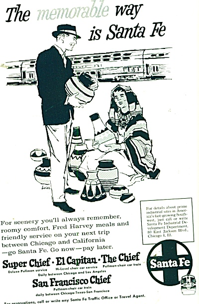 Santa Fe railroad ad 1962 LUCIA ARTWORK (Image1)