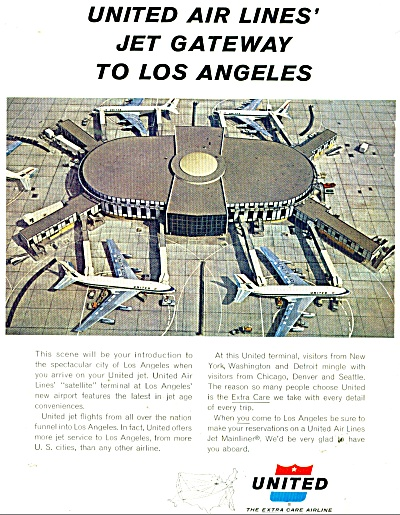 1962 United airlines AD LAX Los Angeles GATE (Image1)