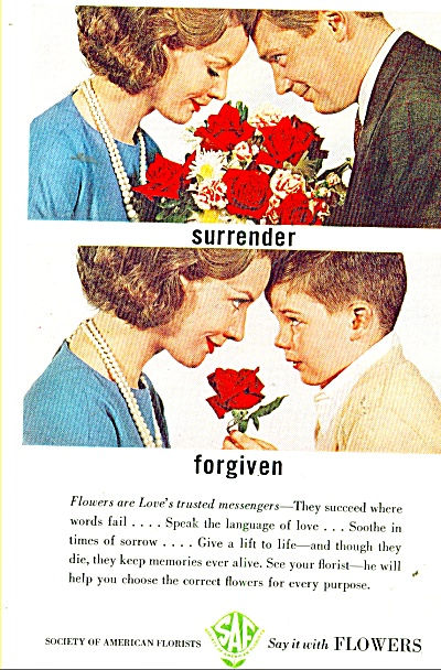 Society Of American Florists Ad 1962