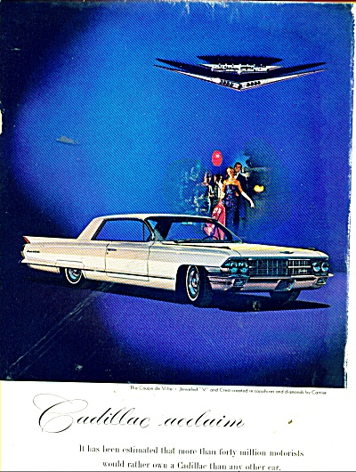 1962 CadillacCAR AD COUPE de VILLE COOL (Image1)
