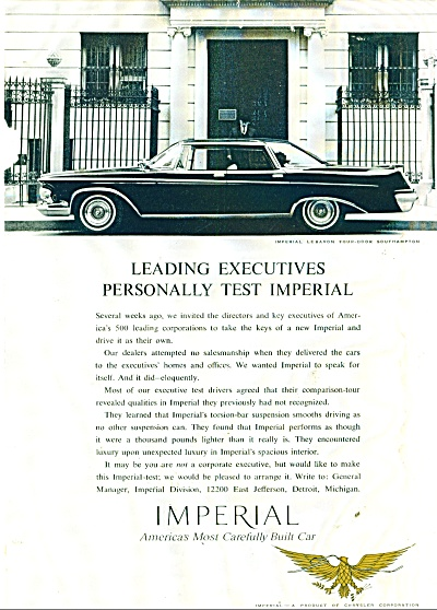 Chrysler Imperial ad 1962 (Image1)