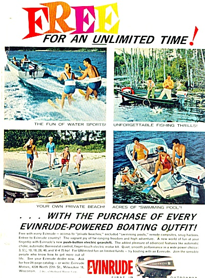 Evinrude boat motors ad 1962 (Image1)