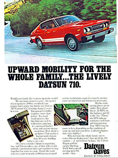 Datsun 710 automobile ad 1976 (Image1)
