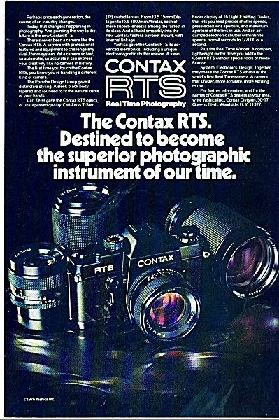 Contax Rtw Real Time Photography Ad 1976