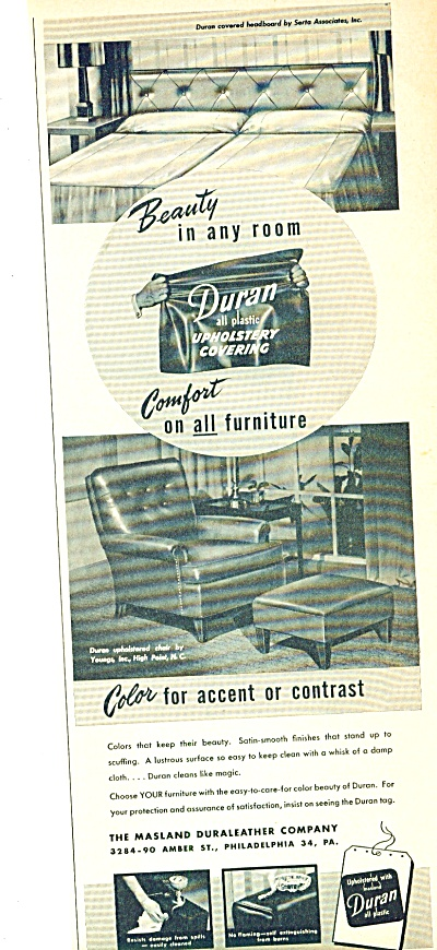 Duran Upholstery Covering Ad