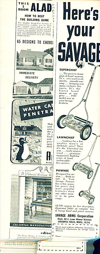 Savage lawn mowers ad (Image1)
