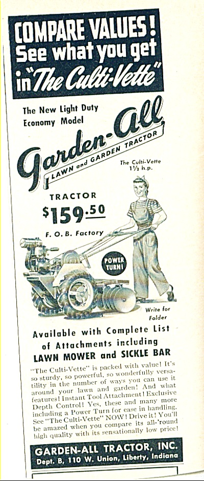 Garden All Tractor Ad