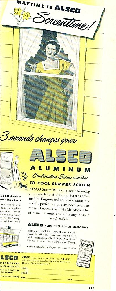 Alsco Aluminum storm windows ad - (Image1)
