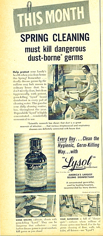 Lysol Brand Disinfectant Ad