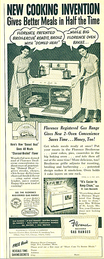 Florence registered gas ranges ad (Image1)