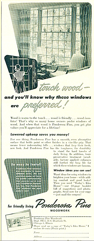 Ponderosa pine woodwork ad (Image1)